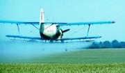 Обработка полей вертолетом и самолетом Ан-2
