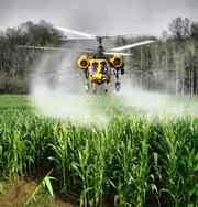 Луговой мотылек - защита посевов от гусениц вертолетом самолетом Ан-2